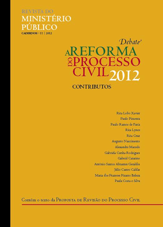 caderno II 2012 | debate sobre a reforma do Processo Civil