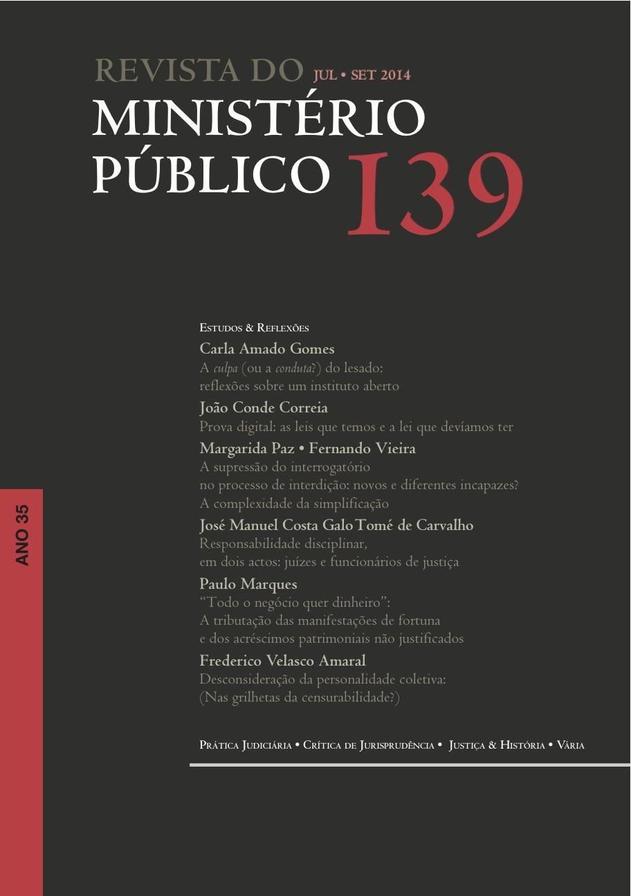Revista do Ministério Público Nº 139