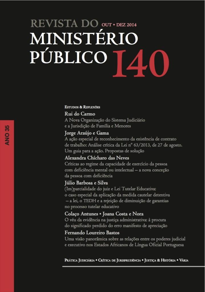 Revista do Ministério Público nº 140