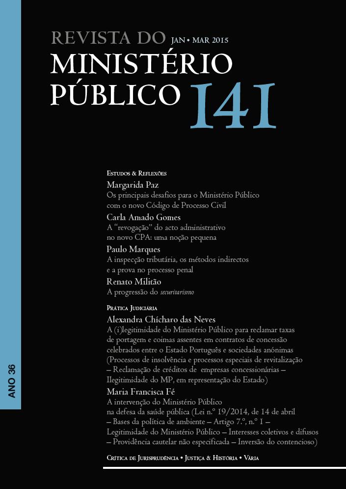 Revista do Ministério Público nº 141