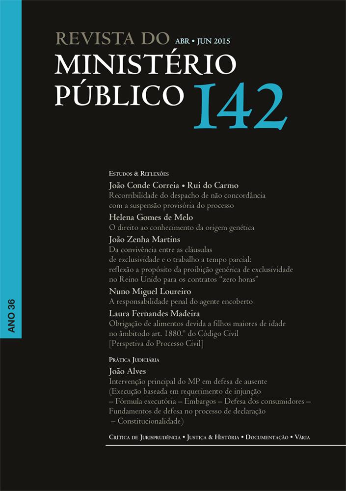 Revista do Ministério Público nº 142