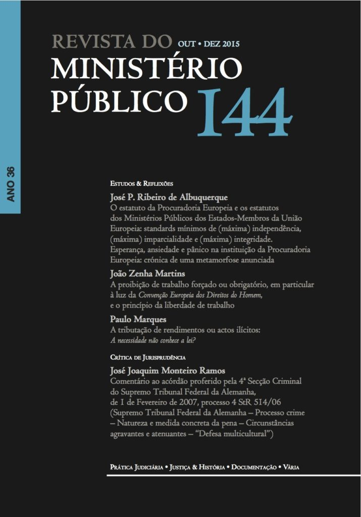 Revista do Ministério Público nº 144