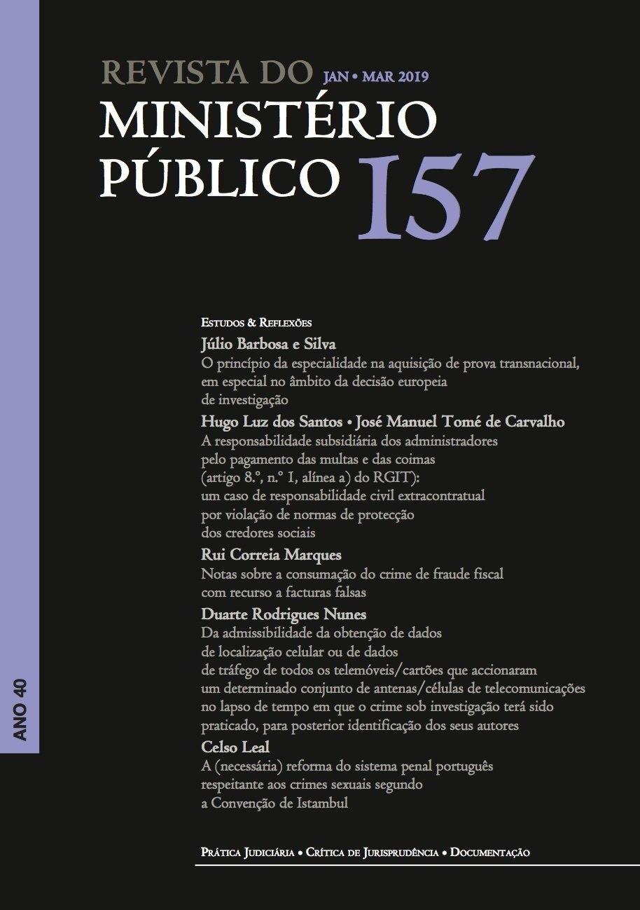 Revista do Ministério Público Nº 157