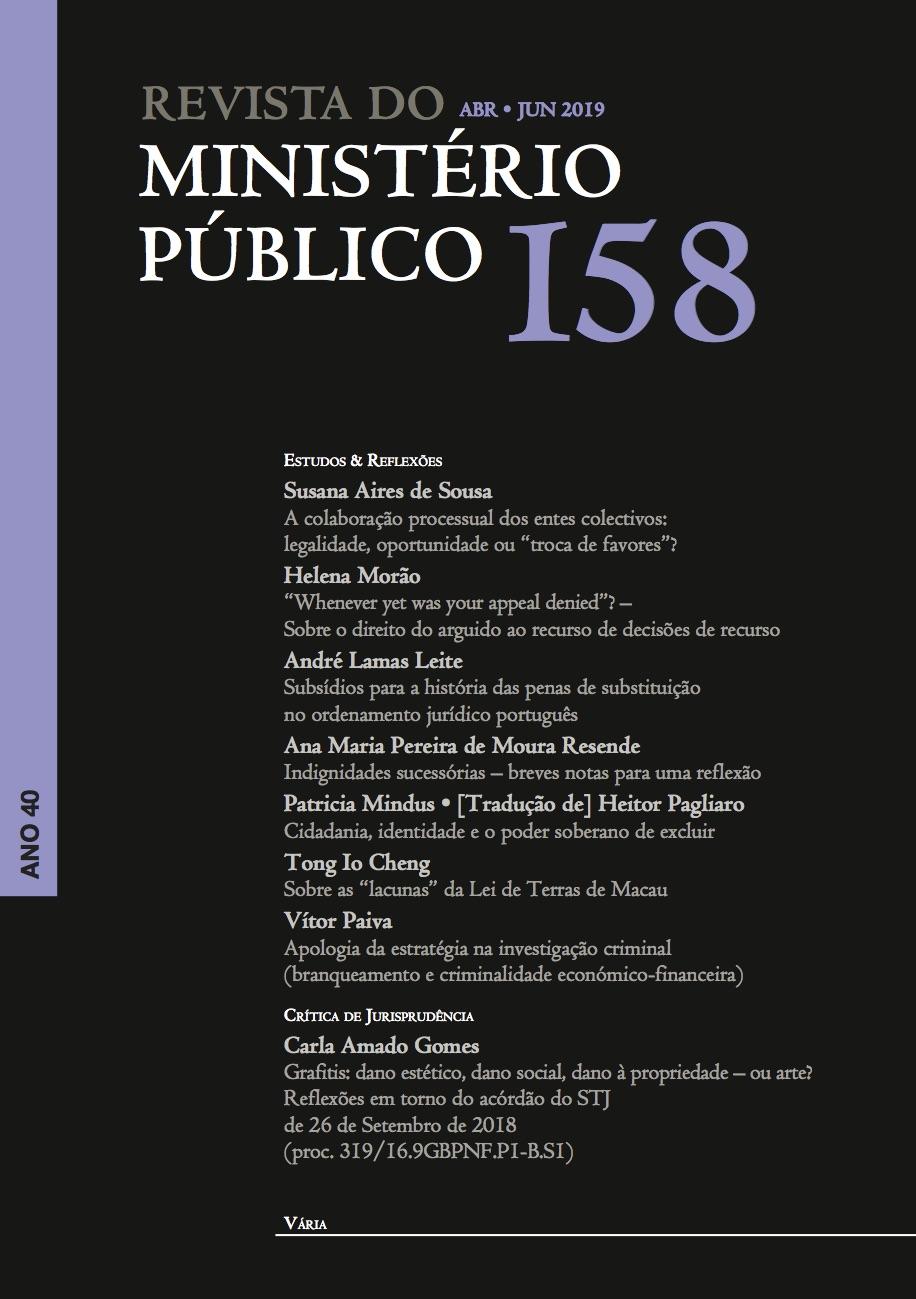 Revista do MInistério Público Nº 158